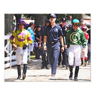 Alex Solis & Irad Ortiz Jr. - World Class Jockey Art Photo