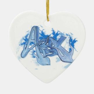 Alex Street Graffiti Style Ceramic Heart Decoration