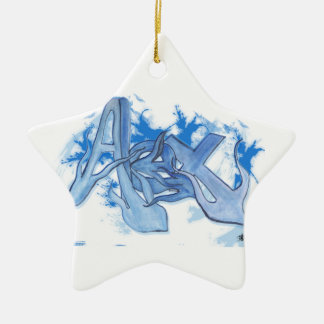Alex Street Graffiti Style Ceramic Star Decoration