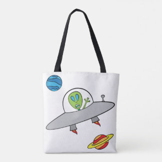 Alex the Alien - All-Over-Print Tote White