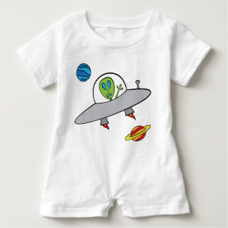 Alex the Alien - Baby Romper Baby Bodysuit