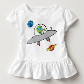 Alex the Alien - Toddler Ruffle Tee