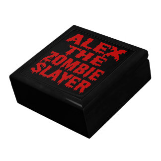 Alex The Zombie Slayer Large Square Gift Box