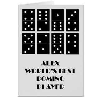 Alex World's Best Domino Player Card