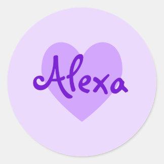 Alexa in Purple Round Sticker