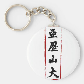 Alexander 亞歷山大 translated to Chinese name Basic Round Button Key Ring