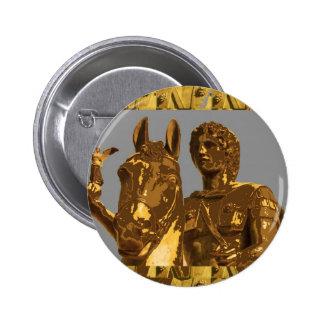 Alexander ALEXANDRIA Egypt: Vintage History 6 Cm Round Badge