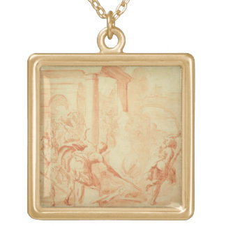Alexander and Thais on their drunken rampage throu Gold Plated Necklace