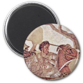 Alexander Battle  By Meister Der Alexanderschlacht 6 Cm Round Magnet
