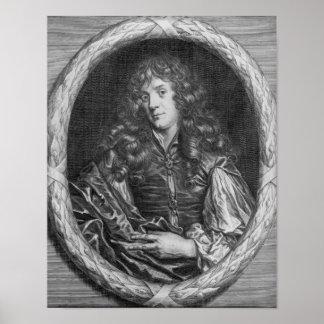 Alexander Browne, engraved by Pieter de Jode Poster