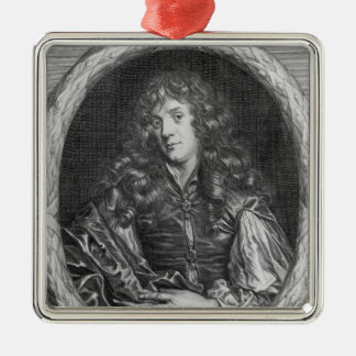 Alexander Browne, engraved by Pieter de Jode Silver-Colored Square Decoration