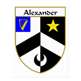 Alexander Coat of Arms/Family Crest Postcard