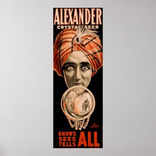 Alexander crystal seer knows sees tells all poster