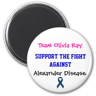 Alexander Disease Awareness Magnet Team Olivia