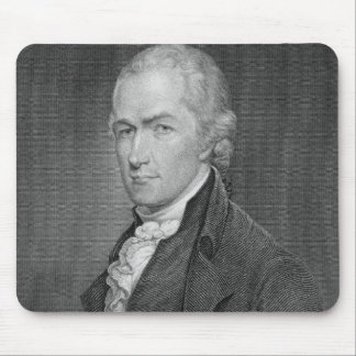 Alexander Hamilton (1757-1804) engraved by John Fr Mouse Pad