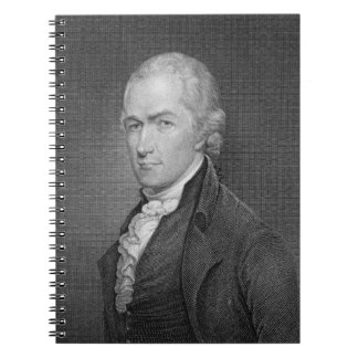 Alexander Hamilton (1757-1804) engraved by John Fr Notebooks