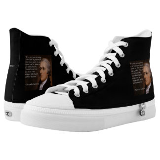 "Alexander Hamilton ""Enemy Leader"" Hightop Sneakers"