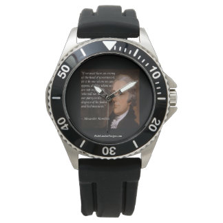 "Alexander Hamilton ""Enemy Leader"" Quote Watches"
