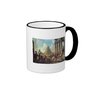 Alexander III  the Great before the Tomb Ringer Mug