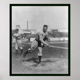 Alexander Phillies Baseball 1915 Poster