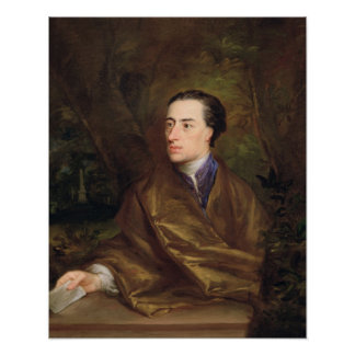 Alexander Pope (1688-1744) 1738 (oil on canvas) Poster