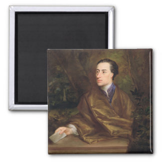 Alexander Pope (1688-1744) 1738 (oil on canvas) Square Magnet