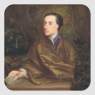 Alexander Pope (1688-1744) 1738 (oil on canvas) Square Sticker