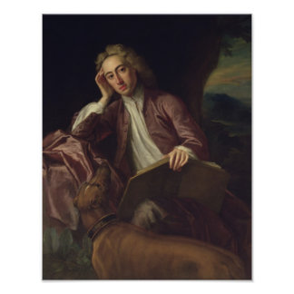 Alexander Pope and his dog, Bounce, c.1718 Poster