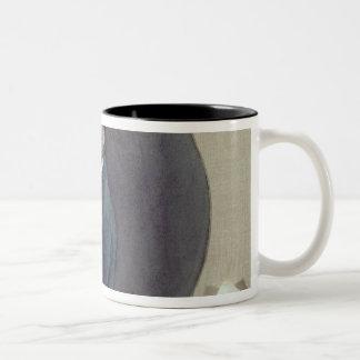 Alexander Pushkin  at Work, 1899 Two-Tone Coffee Mug
