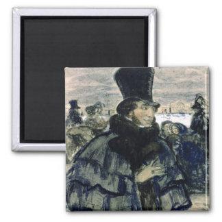 Alexander Pushkin  on the Neva Embankment Magnet