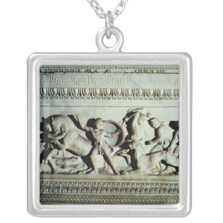 Alexander Sarcophagus Silver Plated Necklace