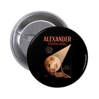 Alexander sees your life from the cradle 6 cm round badge