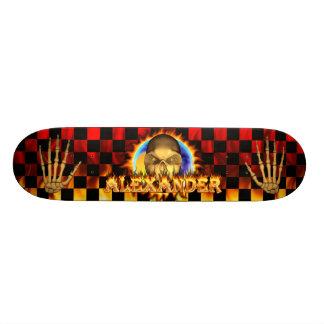 Alexander skull real fire and flames skateboard de