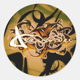 Alexander Round Sticker