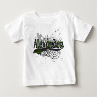 Alexander Tartan Grunge Baby T-Shirt