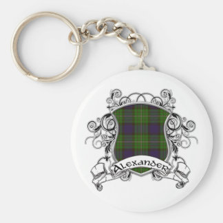 Alexander Tartan Shield Key Ring