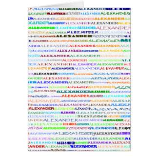 Alexander Text Design II Vertical Greeting Card