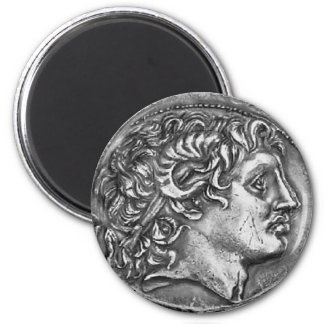 Alexander the Great 6 Cm Round Magnet