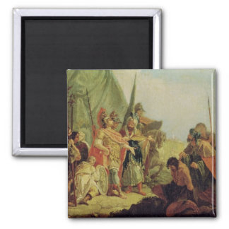 Alexander the Great  and Porus Square Magnet