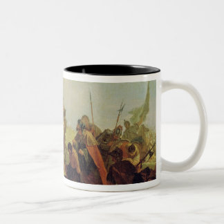 Alexander the Great  and Porus Two-Tone Coffee Mug