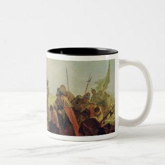 Alexander the Great  and Porus Two-Tone Mug