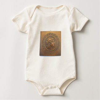 ALEXANDER THE GREAT COPPER WALL ART BABY BODYSUIT