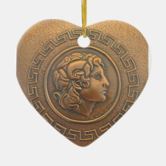 ALEXANDER THE GREAT COPPER WALL ART CHRISTMAS ORNAMENT