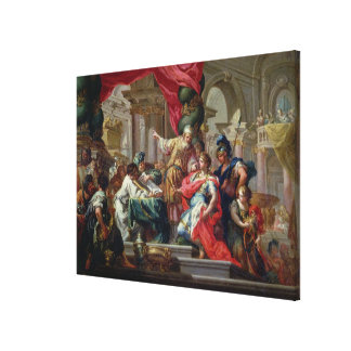 Alexander the Great in the Temple of Jerusalem Canvas Print