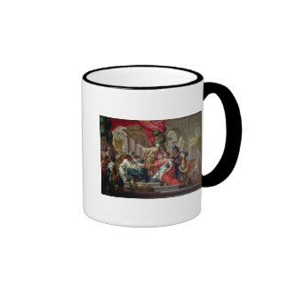 Alexander the Great in the Temple of Jerusalem Ringer Mug