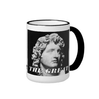 ALEXANDER THE GREAT RINGER COFFEE MUG