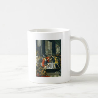 Alexander the Great Threatened by His Father Basic White Mug
