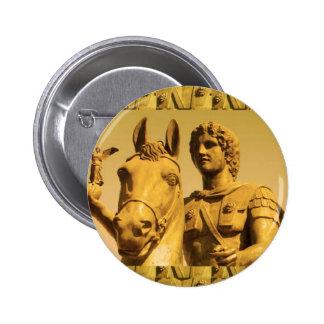 ALEXANDER the Great :  Vintage Alexanderia 6 Cm Round Badge