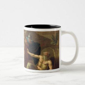 Alexander the Great visits Diogenes at Corinth Two-Tone Coffee Mug
