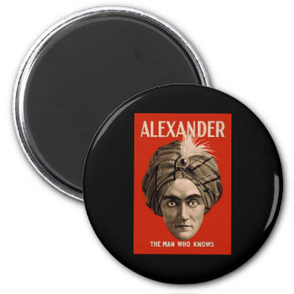 Alexander the Man Who Knows 6 Cm Round Magnet